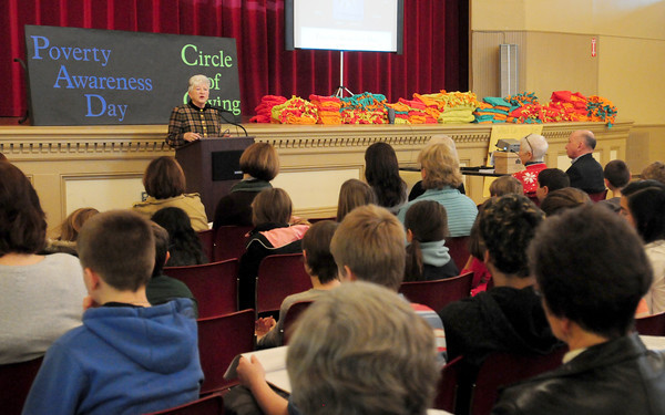 Newburyport: Rosemary Werner of Best Food Forward speaks about her program at the Poverty Awareness Day sponsored by the River Valley Charter School. Bryan Eaton/Staff Photo