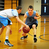 Byfield: Triton's Mike Dullea, right, in practice yesterday. Bryan Eaton/Staff Photo