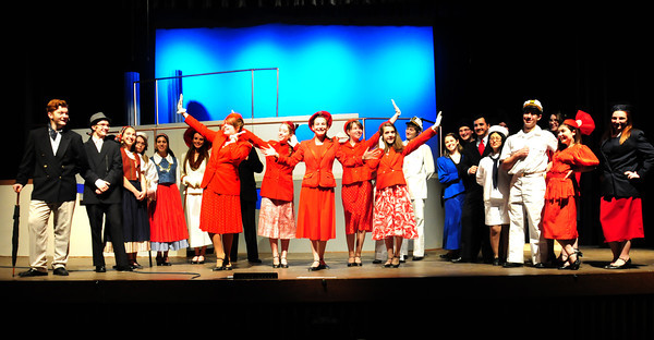 """Byfield: The Triton High Schools cast of """"Anything Goes"""" in dress rehearsal. Bryan Eaton/Staff Photo"""