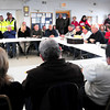 Newburyport: Plum Island residents along with local, state and federal officials met at PITA Hall Monday to discuss there erosion problems on the barrier beach. Bryan Eaton/Staff Photo