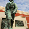 Amesbury: The Doughboy memorial outside Amesbury Elementary School. Bryan Eaton/Staff Photo