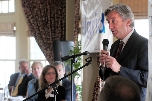 Amesbury: Congressman John Tierney speaks at the Legislative Luncheon sponsored by the Amesbury Chamber of Commerce and Industry at Ristorante Molise on Friday afternoon. Bryan Eaton/Staff Photo