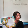 "Amesbury: State senator Kathleen O'Connor Ives show pictures from the Dr. Seuss book ""Sneetches"" to a class at Amesbury Elementary School. She then took questions from the children including one who asked if she lived in Washington D.C. Bryan Eaton/Staff Photo"