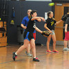 Amesbury: Members of the Amesbury high softball team practice at the Middle School Monday afternoon. Jim Vaiknoras/staff photo