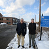 Newburyport: Bill Harris and Larry McCavitt at the waterffront parking lot in Newburyport. Jim Vaiknoras/staff photo