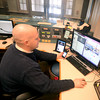 Newburyport: Inspector Matt Simons of the Newburyport police tweets from the Green street staion. JIm Vaiknoras/staff photo