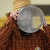 Newburyport: Dovid Bush looks through a sifter as he leads a program Sunday at Ahavas Achim. The event put on by Travelling Matzah Bakery taught kids to make Matzah from scratch. Jim Vaiknoras/staff photo