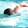 Newburyport: Phoebe Lanham swims in the 4th annual Indoor Triathlon at the YWCA in Newburyport Sunday morning.  Jim Vaiknoras/staff photo
