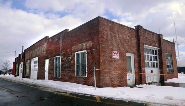 Newburyport: Building for sale near Michael's Harborside in Newburyport. Jim Vaiknoras/staff photo