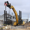 Newbury: Construction at 16R Northern Boulevard on Plum Island, a house at the site was detroyed in 2008 by erosian. Jim Vaiknoras/staff photo