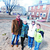 newburyport: Jeff Bard, Barbara Garnis, Nancy Earls, and Nancy Lazdowski stand at the preposted site of a new play ground at  Kelleher Park in Newburyport. Jim Vaiknoras/staff photo