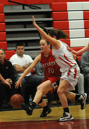 Watertown: Amesbury's Julia Schlich drives to the basket during the Indians loss to Watertown at Watertown high school Sunday. Jim Vaiknoras/staff photo