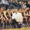 haverhill: Newburyport coach Tom L'Italien and the bench watch as time runs out during their loss to Whittier at Whittier Friday night. Jim Vaiknoras/staff photo