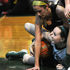 West Newbury: Pentucket'sTaylor Moore covers up a loose ball during the Sachem's game against  Bishop Fenwick at Pentucket Saturday afternoon. JIm Vaiknoras/staff photo