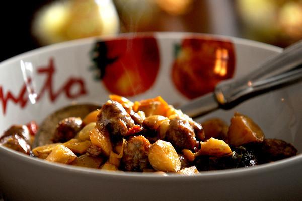 Newburyport: Sausage , Peppers, and Potatoes from Pam Federico. JIm Vaiknoras/staff photo