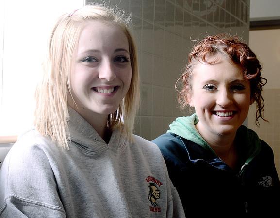 Amesbury: Amesbury tennis players Madison Padgett  and Stephanie Abraham will enlist in military following high school. Jim Vaiknoras/staff photo