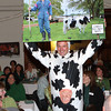Newburyport: Mark Wright, dressed as a cow, spoofs the Committee for an Open Waterfront with a photo of NRA member James Shanley. Keith Sullivan/Special to the Daily News
