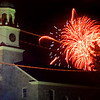 newburyport: Saturday nights Yankee Homecoming fireworks light up the sky over St Paul's Church in Newburyport.Jim Vaiknoras/Satff photo August 2, 2009