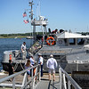 BRYAN EATON/Staff photo. The U.S. Coast Guard Station Merrimack's Open House drew many visitors who got to tour this motor lifeboat.