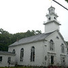 JIM VAIKNORAS/Staff photo A much needed rain falls on the Union Congregational Church in Amesbury Sunday morning.