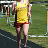 Newburyport: Erin Carroll lead Newburyport in the girls two mile in a meet with Pentucket. Bryan Eaton/Staff Photo