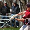 Newburyport: Newburyport Connor MacRae hits a double bringing in two players to home plate against Saugus. Bryan Eaton/Staff Photo
