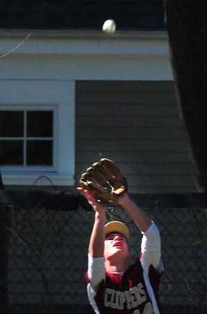 Newburyport: Newburyport's Ryan Short catches a popup against Saugus. Bryan Eaton/Staff Photo
