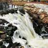 Byfield: The Parker River flows over the dam at Central Street in Byfield yesterday afternoon. Bryan Eaton/Staff Photo