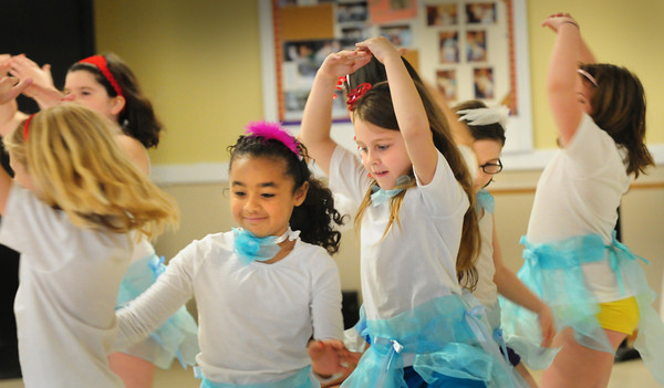 """Salisbury: """"The Believers"""" perform ballet to the song """"Somewhere Over the Rainbow"""" for their Spring Frolics. The dance group, from the Boys and Girls Club in Salisbury was performing for attendees at the Hilton Senior Center in Salisbury. Bryan Eaton/Staff Photo"""