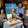 """Newburyport: Promoting the upcoming fundraiser for the Firehouse """"April in Paris"""" from left, Esther Sayer, Louis Rubenfeld and Beth Falconer. Bryan Eaton/Staff Photo"""