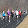 Amesbury: Runners circle the track at Amesbury high in the The Miles for Mike 12-Hour Relay Saturday. Jim Vaiknoras/staff photo