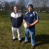 North Andover: Merrimack College rugby founders Maurice Kauff and Jon Gurczak. Jim Vaiknoras/staff photo