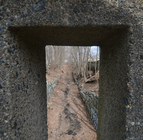 Newburyport: Section of the old rail road bed as it passes under High Street in Newburyport. Jim Vaiknoras/staff photo