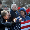Amesbury: More than 200 people gathered at the gazebo in Amesbury to remember the Marathon Bombings. Clergy, city official and emergency response personal offered their thoughts and prayers. The Heroes Chorus sang God Bless America and America the Beautiful. Jim Vaiknoras/staff photo