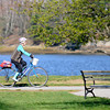 Newburyport: A cyclist takes advantage of the beautiful weather to take a spin around Cashman Park in Newbury. Jim Vaiknoras/staff photo