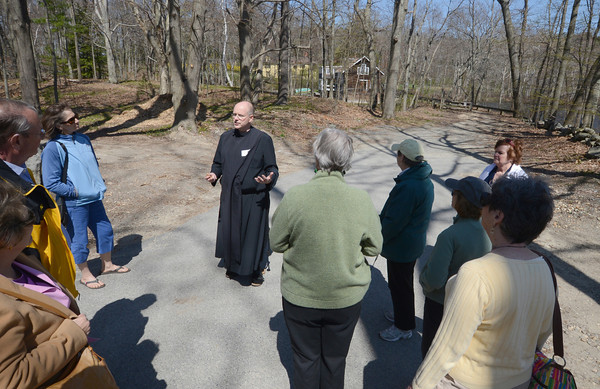 West Newbury: Brother James of the Society of St John the Evangelist gives a tour of the Emery House property in West Newbury. Sunday afternoon. Jim Vaiknoras/staff photo
