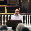 Newburyport: Rabbi Avi Poupko reads psalm 22 at  a Interfaith Service of Psalms, Prayers , and Rememberance at the Congregation Ahavas Achim in Newburyport.
