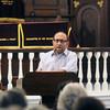 Newburyport: Rabbi Avi Poupko reads psalm 22 at  a Interfaith Service of Psalms, Prayers , and Rememberance at the Congregation Ahavas Achim in Newburyport.