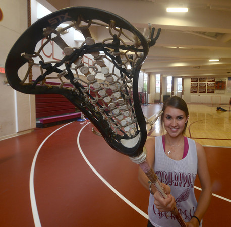 Newburyport: Newburyport senior Kate McCauley, a three-sport athlete, is looking to lead the lacrosse team to a Cape Ann League title. Jim Vaiknoras/Staff Photo