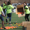 Amesbury: Volunteers spead out eggs at the Egg Drop-Palooza at Amesbury Sports Park to benefit Lucy's Love Bus, a local nonprofit now helping young cancer patients in 12 states. Jim Vaiknoras/staff photo