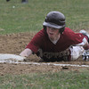 newburyport: Brian Fiascone dives safely back to first during the Clipper's home game against Masco Thursday. Jim Vaiknoras/staff photo