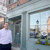 Newburyport: Mark Tramontana in front of the newly renamed Anchor Stone Pizza on State Street in Newburyport. Jim Vaiknoras/staff photo