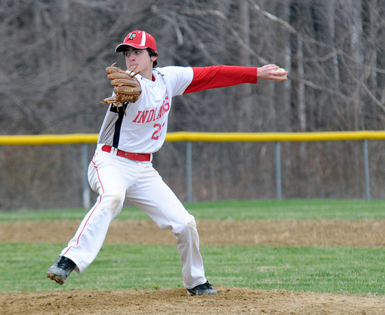 JIM VAIKNORAS/Staff photo  Amesbury pitcher Chris Cioffi pitches at home agianst Ipswich Friday.