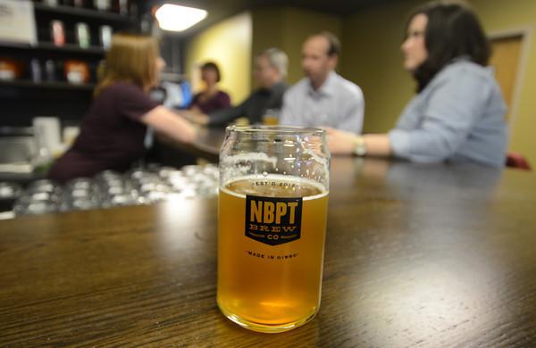 JIM VAIKNORAS/Staff photo. New beer Melt Away at the Newburyport Brewing Company.