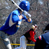 JIM VAIKNORAS/Staff photo Amesbury's Samuel Burnham pitches against Georgetown Saturday morning at Amesbury high.