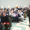 JIM VAIKNORAS/Staff photo. Congressman John Tierney speaks to a about 200 people at the Democratic breakfast at Nicholson Hall in Newburyport Saturday morning.