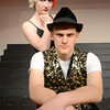 JIM VAIKNORAS/Staff photo Charlotte Hyde as Roxie and Andrew Dolle as the Master of Ceremonies in the Amesbury high School production of Chicago.