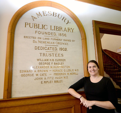 JIM VAIKNORAS/STaff photo   New Amesbury Library Director Erin Matlin.
