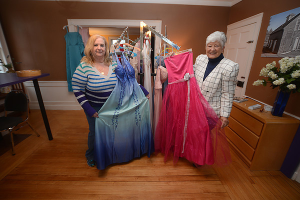 """JIM VAIKNORAS/Staff photo. Betty Vitale, seen here with Rose Wierner, has started a non-profit organization called """"Tammi's Closet"""" in memory of her daughter who passed away at a young age. Her goal is to collect and give away prom dresses and accessories to girls in need."""