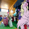 "Amesbury: Members of Theater in the Open perform at "" Molly's Royal Faire"" at the Holy Family Parish in Amesbury Saturday. The event which benefited the Children's Tumor Foundation, featured games, prizes, Amazing Silent Auction, Sumptuous Buffet fit for a king, Fantasy Costume Contest, and aminals from Curious Creatures. Jim Vaiknoras/staff photo"